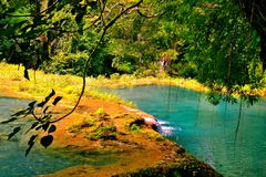 Tranquility of Semuc Champey stock photos