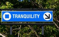 Tranquility Sign Foto de archivo libre de regalías