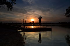 Tranquility at sunset Stock Photography
