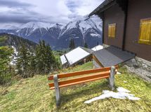 Tranquility of Swiss alps Stock Photo