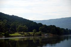 Tranquility on the Tennessee River. Scenery while traveling down the Tennessee River Stock Image