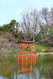 Tranquility. The tranquil and peaceful Japanese hill and pond garden in Brooklyn botanical garden in New York Stock Photography