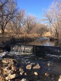 Tranquility by the Water. Trail Stream in Lafayette Colorado Royalty Free Stock Photos