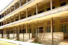 Tranquillità ingannevole, prigione di Tuol Sleng, Cambogia Fotografia Stock Libera da Diritti