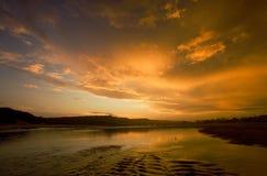 Tranquillità in oro Fotografie Stock