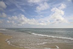 Tranquilty à l'océan Images libres de droits