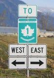 Trans加拿大符号 免版税库存照片