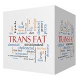 Trans肥胖3D立方体词云彩概念 免版税库存照片