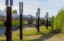 Trans Alaska Oil Pipeline Stock Photo