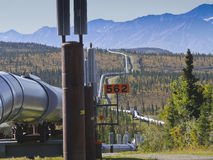 Trans-Alaska oil pipeline Royalty Free Stock Image