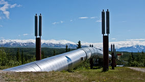 The Trans-Alaska Pipeline stock photo