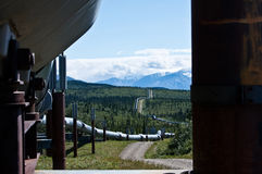 The Trans-Alaska Pipeline Royalty Free Stock Photos