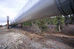 Trans-Alaska Pipeline at Route 4, near Paxson, AK Stock Image