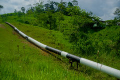 Trans-Andean oil pipeline, Ecuador, it links oilfields in the Amazon. Royalty Free Stock Images
