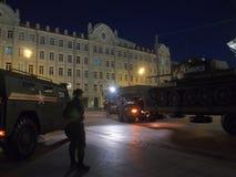 Trans. av den legendariska behållaren T-34 Royaltyfri Bild