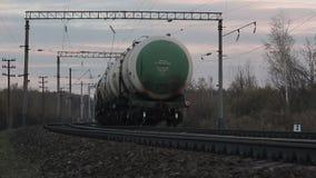 Trans.behållarebilar med olja lager videofilmer