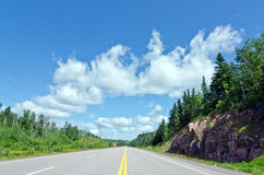 Trans Canada highway Royalty Free Stock Image