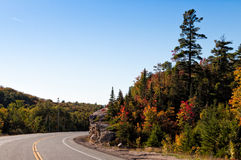Trans-Canada highway in fall colors Royalty Free Stock Images