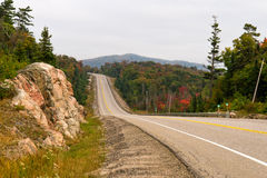 Trans-Canada highway in northern Ontario Royalty Free Stock Photo