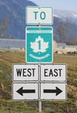 Trans Canada Sign Royalty Free Stock Photo