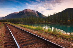 Trans Canadese Spoorweg stock afbeeldingen