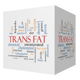 Trans Fat 3D Cube Word Cloud Concept. With great terms such as grams, diet, unsaturated and more Vector Illustration
