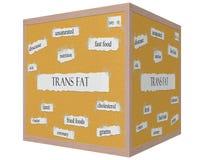 Trans Fat 3D Cube Corkboard Word Concept Stock Image