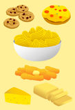 Trans Fat Food. And Snack Stock Illustration