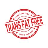 Trans Fat Free rubber red stamp isolated on white background. Vector illustration royalty free illustration