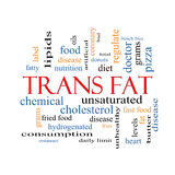 Trans Fat Word Cloud Concept. With great terms such as grams, diet, unsaturated and more Royalty Free Illustration