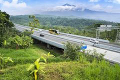 Free Trans-Java Toll Road Bridge With Mountain View Stock Image - 137151661