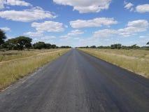 Trans kalahari highway. A lonely road in Boswana stock photography