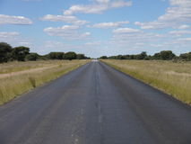Trans kalahari highway. A lonely road in Boswana Royalty Free Stock Image