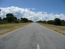 Trans kalahari highway. A lonely road in Boswana royalty free stock images