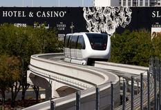 Trans.: Las Vegas enskenig järnvägdrev Royaltyfria Bilder