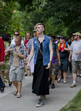 Trans March: Toronto's Pride Festival 2012 Royalty Free Stock Photos
