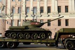 Trans.medelbehållare T-34-85 Royaltyfri Foto