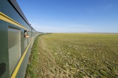 Trans Mongoolse Trein Royalty-vrije Stock Foto