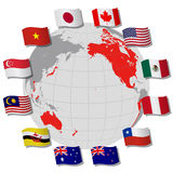 Trans pacific partnership Royalty Free Stock Photo