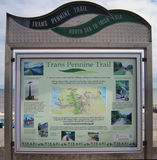 Trans Pennine Trail Sign At Hornsea Stock Image