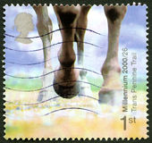 Trans Pennine Trail UK Postage Stamp Royalty Free Stock Images