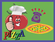 Trans.pizza Royaltyfri Bild