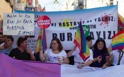 5 Trans. Pride March i Istanbul Royaltyfria Foton