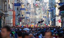 5 Trans. Pride March i Istanbul Royaltyfria Bilder