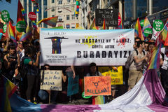 5 Trans. Pride March i Istanbul Royaltyfri Foto