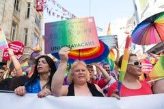 5 Trans. Pride March i Istanbul Royaltyfri Bild