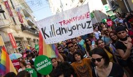 5 Trans. Pride March i Istanbul Fotografering för Bildbyråer