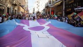 5 Trans. Pride March i Istanbul Arkivbilder
