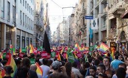 5 Trans. Pride March i Istanbul Arkivfoto