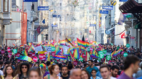 5. Trans Pride March in Istanbul Stock Photography
